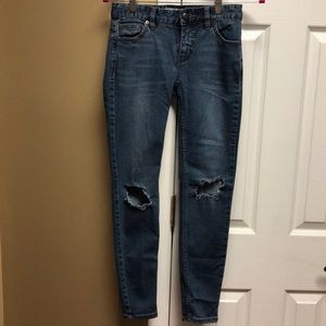 Free people jeans size 25.  Good condition